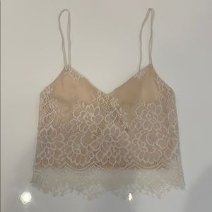 Charlotte Russe White Lace XS Top